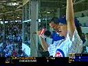 Shania sings 'Take Me Out To The Ball Game' during the seventh inning stretch of the Chicago Cubs vs Philadelphia Phillies game at Wrigley Field in Chicago, Thursday, July 24, 2003